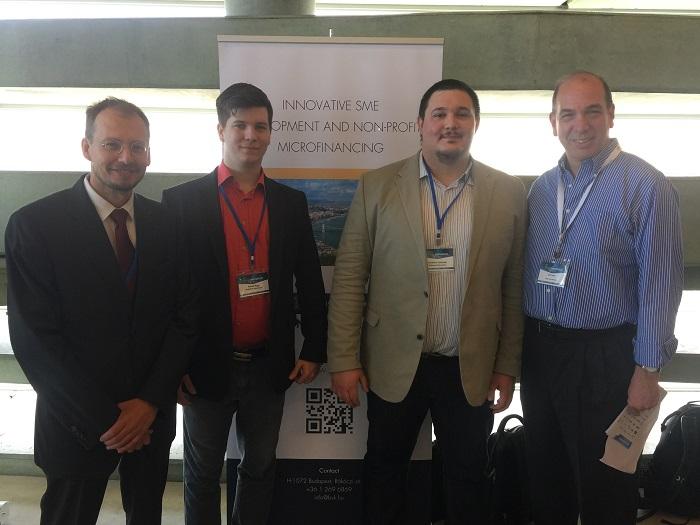Márki Gábor, külgazdasági attasé, Nagy Dániel és Szolnoki Szabolcs, a BVK munkatársai, Ed Frank, az Axis Tel Aviv alapítója