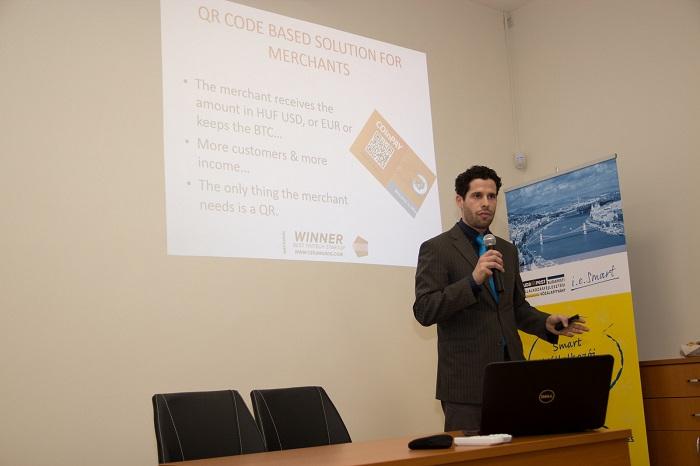 A COinPay prezentációja a 3. BE SMART versenyen